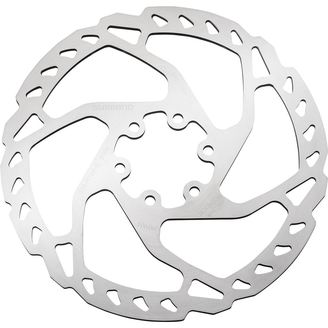 Shimano SLX/Zee RT66 6-Bolt Disc Brake Rotor : 180mm-0