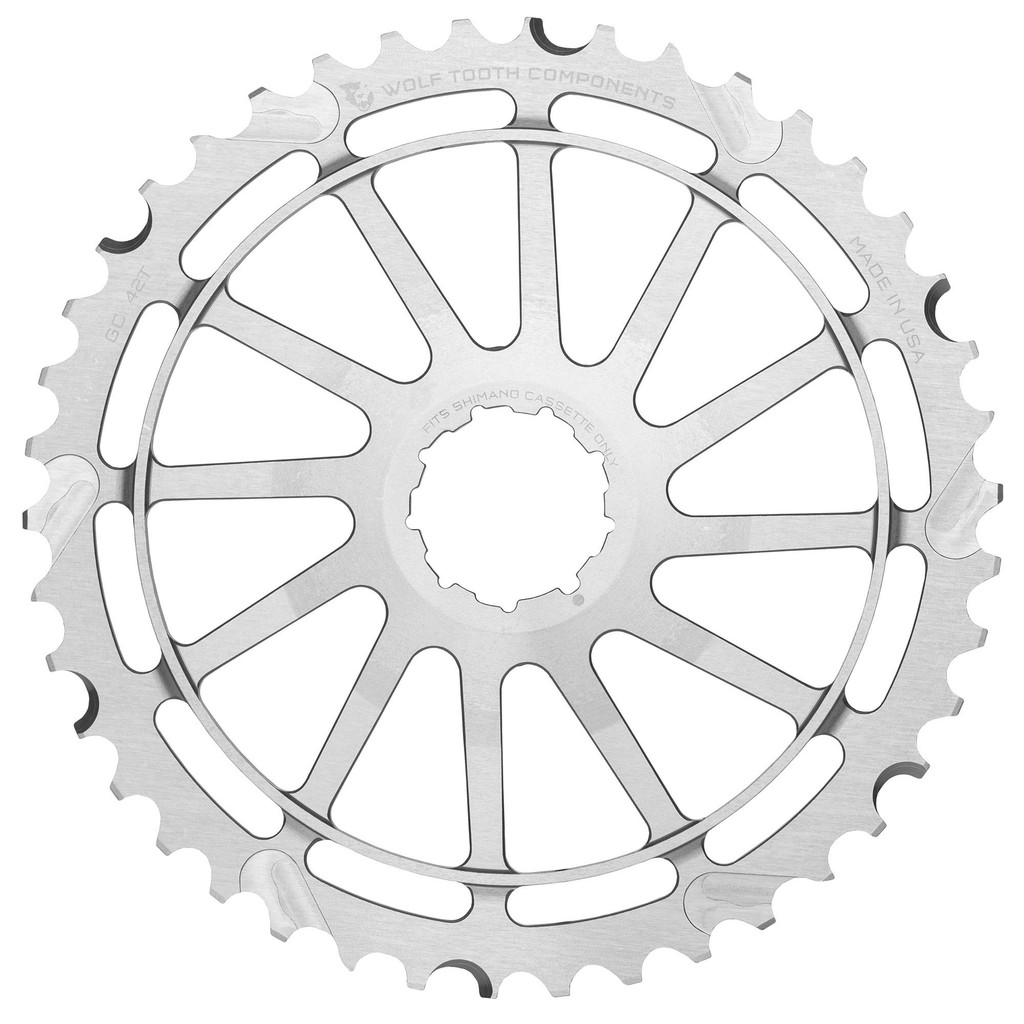 Wolf Tooth 42T CG Cog for Shimano (Silver)