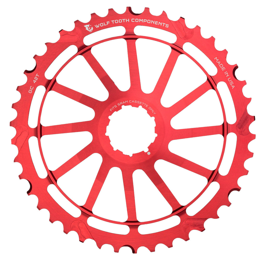 Wolf Tooth 42T GC Cog for SRAM (Red)