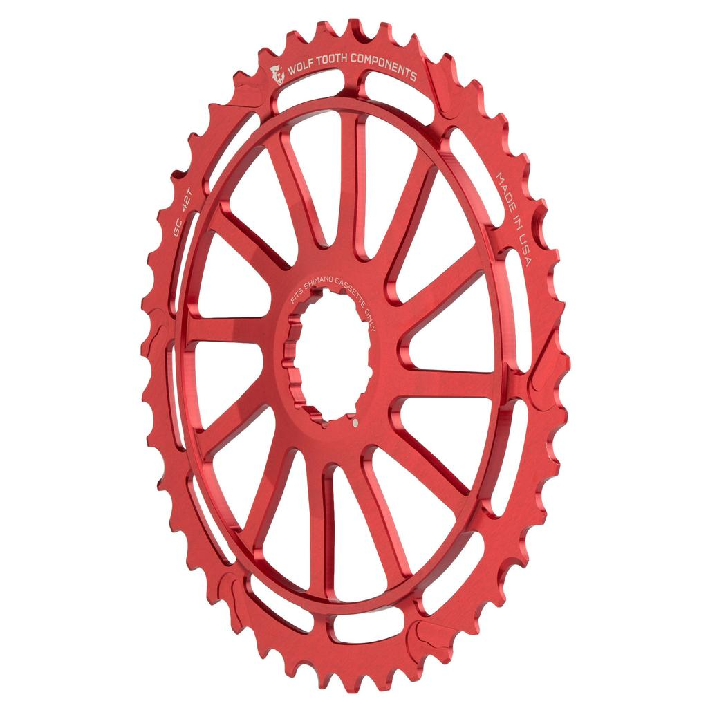 New 2016 Wolf Tooth GC42 42 tooth cassette sprocket SRAM 42t Cog compatible Red