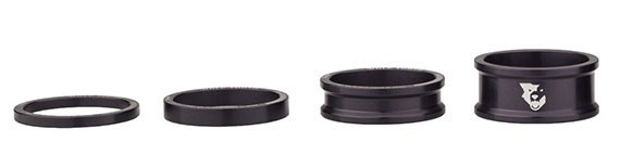 Wolf Tooth Black Precision Headset Spacers (3, 5, 10, 15mm Kit)