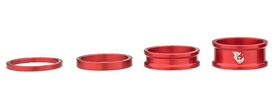Wolf Tooth Red Precision Headset Spacers (3, 5, 10, 15mm Kit)