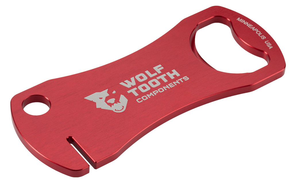 Wolf Tooth Bottle Opener with Rotor Truing Tool (Red)