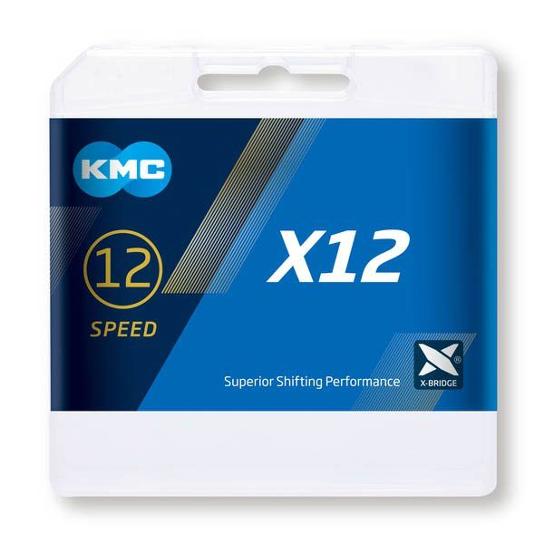 KMC X12 12-speed Silver Chain (126 Links)